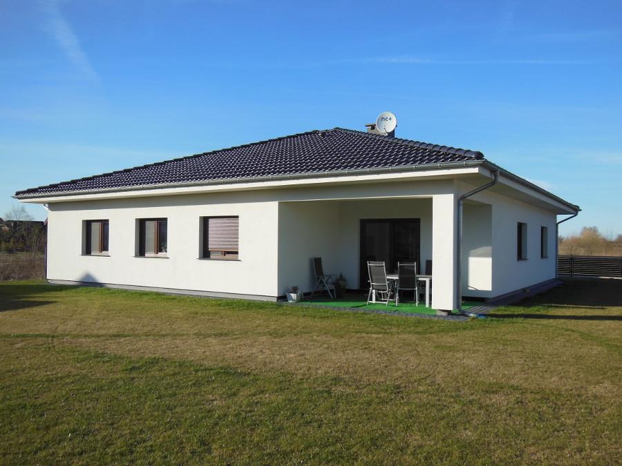 Dom jednorodzinny - elewacja ogrodowa